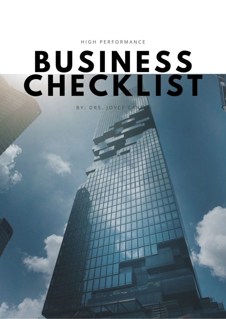 Checklist Company Performance and Impact Indicators by Drs. Joyce Carols